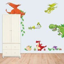 Dragon Dinosaur Cartoon Wall Sticker Vinyl Decal Art Mural Kid Nursery Art Decor