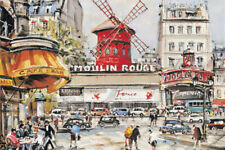 1000 Pieces Adult Puzzle Moulin Rouge Street Jigsaw Educational Toys Game Gift