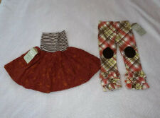 2X Persnickety Ruffle Leggings & Skirt 3T New