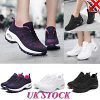 Womens Mesh Air Cushion Sneakers Trainers Sport Running Athletic Shoes Size UK