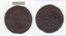 stampsdealer Cu 3 Pfennig 1805 Osnabrück Kennepohl 510 (T2052)