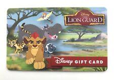 WALT DISNEY WORLD LION GUARD GIFT CARD, Disneyland