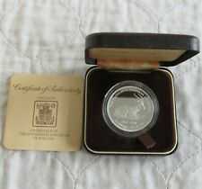 More details for jordan 1977 rhim gazelle silver proof 2.5 dinars - boxed/coa