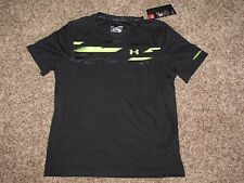 UNDER ARMOUR YOUTH BOYS LARGE BLACK/VOLT SHIRT