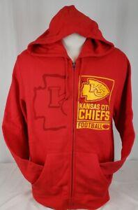 BRAND NEW Men's VF Imagewear NFL Kansas City Chiefs Hooded Sweatshirt Full-Zip
