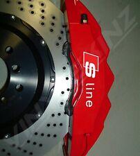 6x Audi S-line Logo Premium Cast Brake Caliper Decals Stickers Quattro TT TFSI