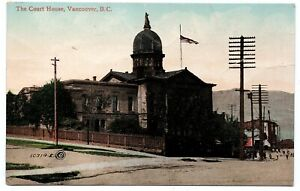 RPPC The Court House Vancouver B.C. British Columbia Vintage Postcard Charlton