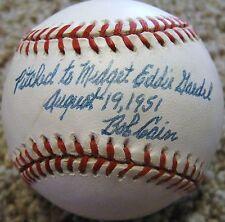 "Bob ""Sugar"" Cain d.97 PSA/DNA 1951 Eddie Gaebel Detroit Tigers Signed Baseball"