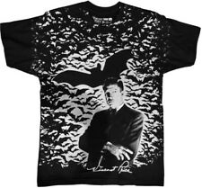 Vincent Price Bat Attack Black Unisex Adult Short Sleeve Tee Shirt (Large) [New