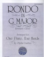 Gliere Rondo In G Major Piano Mid Intermediate Duet Phyllis Gunther 4 Hands