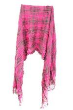 Vintage Pink Ladies Gris Patrón Plisado Bufanda inspirada en estado de cuenta única (MS31)