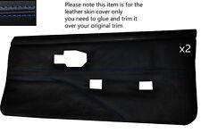 Blue stitch 2 cartes de porte avant pleine en cuir couvre fits PONTIAC FIREBIRD 90-92