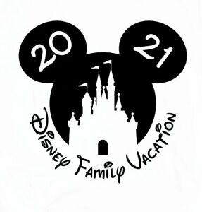 DISNEY MICKEY MOUSE CASTLE  VACATION 2021  PERSONALIZED T-SHIRT IRON ON TRANSFER