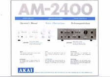AKAI Manuel d'Utilisation User Manual opérateur's manual pour le - 2400