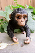"CHIMPANZEE BABY MONKEY FIGURINE STATUE RESIN PET 5"" H Jungle Animal Ornament"