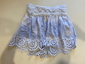 FREE PEOPLE Women's Cotton Embroidered Shorts Size S