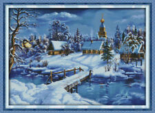 Joy Sunday Counted Cross Stitch Kit 14CT 23in x 17in A World of Ice and Snow