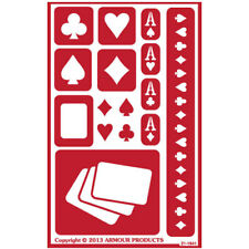 NEW ~Armour Over n Over Reusable Glass Etching Stencil ~ ONO Poker Party