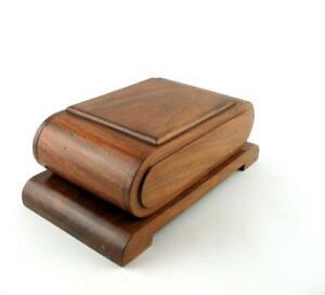 Art Deco Style Wooden Cantilever Cigarette Dispenser   Holds 40 cigarettes