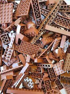 Lego Genuine Joblot Reddish Brown 500G 1/2kilo Starter Pack Pieces Bricks Plates