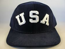 USA Vintage American Needle Snapback Hat Cap Defect Missing Top Button