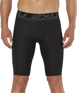 2XU Accelerate Mens Compression Shorts Black Baselayer Short Tights Gym Training