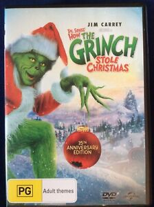 Dr Seuss How the Grinch Stole Christmas - Region 4 DVD - Great Cond - FREE POST