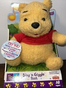 NEW Winnie The Pooh POOH BEAR Sing N Giggle Disney Toy Fisher Price