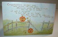 Halloween Thanksgiving Postcard F A Owen Series 800 Vintage Original Antique