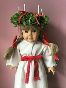 Kirsten Pleasant Doll Company American Girl in St. Lucia Christmas Wreath Outfit