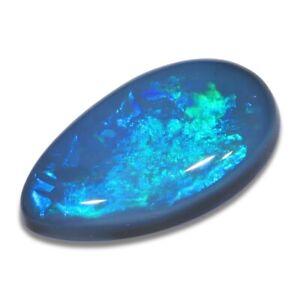 0.87 ct Dunkler Opal aus Lightning Ridge - Australien mit Blau Grün Edelopal