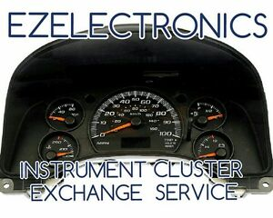 "GMC SAVANA CHEVY EXPRESS INSTRUMENT CLUSTER ""EXCHANGE"" 2003 TO 2007"