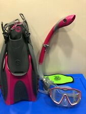 Aqua Lung Water Sport: Youth Diva 1 Lx Mask, Snorkel, Fins. Prewoned