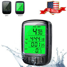 Digital LCD Cycle Bicycle Bike Computer Odometer Backlight Speedometer Cycling