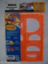 Fiskar's Shape Template, 2 Pack, Rectangles and Ovals New Never Opened