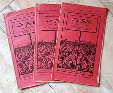 LA FOLLA - Settimanale Paolo Valera  - ANNO I° 1912   n.19 - 20 - 21