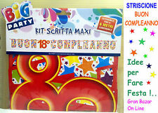 FESTONE STRISCIONE COMPLEANNO 18 ANNI  6 mt. FESTA PARTY DECORAZIONE AUGURALE