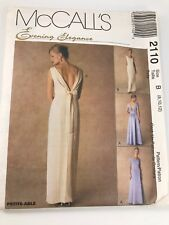 VINTAGE MCCALL'S #2110 PATTERN FOR MISSES SIZES B (8, 10, 12) LINED EVENING GOWN
