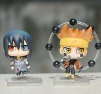2pcs Naruto Sasuke Uzumaki mini PVC figure figures doll action toy anime gift
