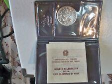 ITALIA-1988-500 LIRE-OLIMPIADI DI SEUL-ARGENTO-FIOR DI CONIO