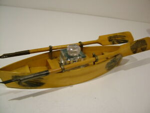 ANTIQUE NOVELTY MAUCHLINE INKWELL DIP QUILL PEN HOLDER ROWING BOAT TREPORT 750