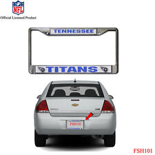 New NFL Tennessee Titans Car Truck Chrome Metal Laser Cut License Plate Frame