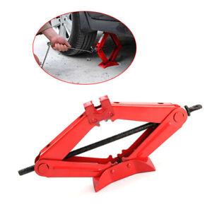 New 1 Ton Tonne Scissor Jack Lift Wind Up For Car Van Garage Home Emergency Tool