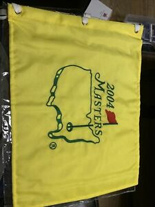 2004 Masters Flag Unsigned Mickelson Palmer