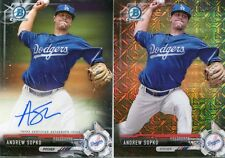 2017 Bowman Chrome 2 Card Lot ANDREW SOPKO Black Refractor Real 1/1 and AUTO