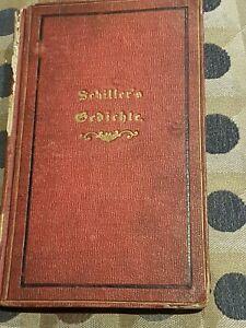 WW2 GERMAN PROPAGANDA-Schiller's 1859 Gedichte Literature Stuttgart-178pp German