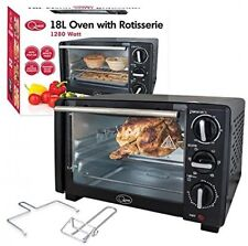 Quest 18L Mini Electric Tabletop Oven Cooker Grill and Rotisserie Countertop