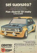 X9206 Fiat Abarth 131 Rally BBURAGO - Pubblicità 1977 - Advertising