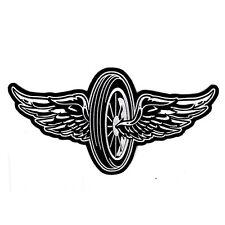 Biker Chopper Motorrad Flying Wheel Rad Wings Aufbügler Aufnäher Patch Groß