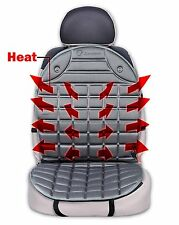 Zone Tech Gray Car Heated Seat Cover Cushion Hot Warmer 12V Heating Pad Driving